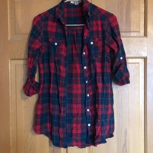Christmas winter flannel button down street style
